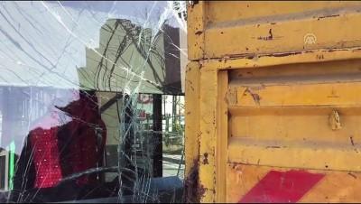 Beykoz'da Otobüs Kamyonla Çarpıştı Açıklaması 2 Yaralı