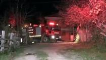Düzce'de Bahçede Çıkan Yangında Dumandan Etkilenen Kişi Hastaneye Kaldırıldı