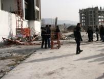 MUSTAFA ÖZDEMIR - İnşaat Asansörü Düştü Açıklaması 1 Ölü, 1 Yaralı