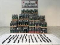 Kırklareli'de 643 Litre Kaçak İçki Ele Geçirildi