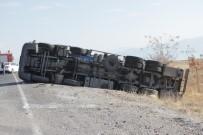 KOZLUCA - Erciş'te LPG Yükü Tanker Kaza Yaptı