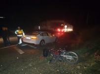 ASPENDOS - Otomobille Çarpışan Motosiklet Sürücüsü Hayatını Kaybetti