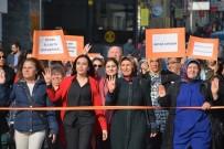 SAKARYA CADDESİ - AK Parti'li Kadınlar, 25 Kasım'da 'Kadına Şiddete Dur' Dedi