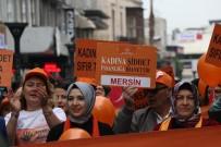 HACı ÖZKAN - Kadına Şiddete Karşı 'Turuncu Balonlarla' Yürüyüş