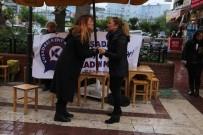 KARİKATÜRİST - Kuşadası 'Kadına Yönelik Şiddete Hayır' Dedi