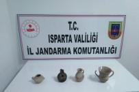 Isparta'da Tunç Çağı'na Ait Vazo Şeklinde Tarihi Eserler Ele Geçirildi