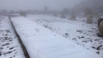 NEMRUT DAĞI - Nemrut Dağı'na İlk Kar Düştü