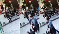 GALATA - (Özel) Gençlerin Selfie Çekmek Uğruna Merdivenlerden Düştüğü Anlar Kamerada
