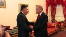 DOLMABAHÇE OFİSİ - Cumhurbaşkanı Erdoğan'ın Fayez Al Sarraj'ı Kabulü