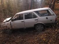 Yoldan Çıkan Otomobil Ağaçlık Alana Uçtu Açıklaması 1 Yaralı