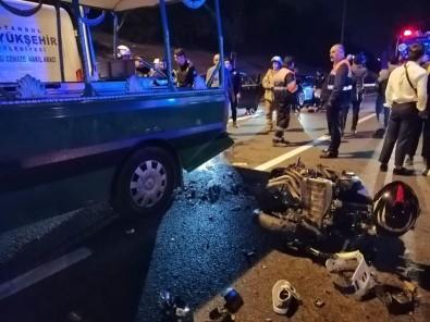 Cenaze Aracına Motosiklet Arkadan Çarptı Açıklaması 1'İ Ağır 5 Yaralı