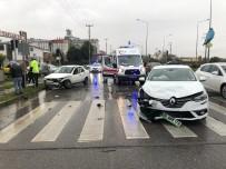 TAFLAN - Samsun'da Trafik Kazası Açıklaması 4 Yaralı