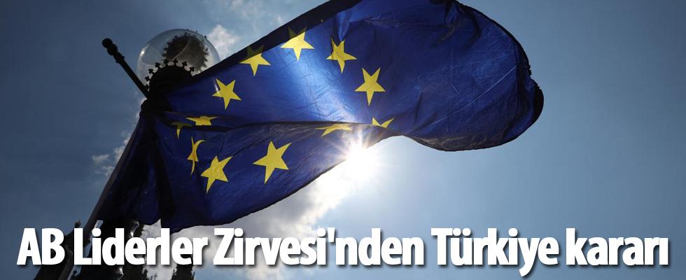 AB Liderler Zirvesi'nden Türkiye kararı