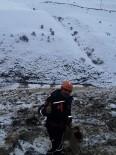 Kayalıklarda Mahsur Kalan Keçiyi AFAD Kurtardı