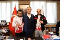 MİLLİ BOKSÖR - Balkan Üçüncüsü; Belediye Başkanı Selim Alan'ı Ziyaret Etti
