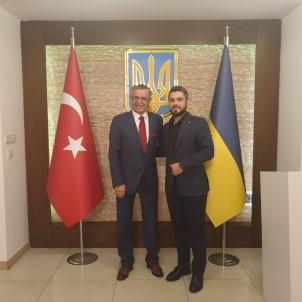 Başkan Topaloğlu Ukrayna Antalya Konsolosu Khomenko İle Bir Araya Geldi