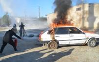 Sanayi Esnafına Gerçek Gibi Yangın Tatbikatı