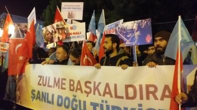 Tekirdağ'da Çin'in Doğu Türkistan'da İnsan Hakları İhlallerine Karşı Yürüyüş Düzenlendi