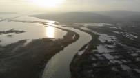 Terkos Gölü'nde Ki Aramalar Drone İle Görüntülendi