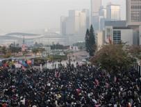 YABANCI DİPLOMAT - Hong Kong'da protestocular Uygur Türkleri'ne destek için toplandı
