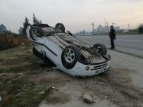 HUZURKENT - Takla Atan Otomobilin Sürücüsü Yaralandı