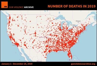 ABD'de 2019'Da Ateşli Silah Kullanımı Sonucu Ölüm Oranı Arttı
