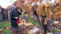 Manisa'da Yılın Son Üzümleri 'Kanaviçe'nin Altından Çıkarıldı