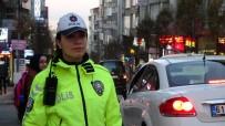 KIZ KARDEŞ - Abla-Kardeş Aynı Şehirde Trafik Polisi Olarak Görev Yapıyor