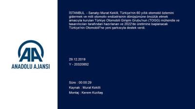 Sanatçı Murat Kekilli'den, 'Türkiye'nin Otomobili'ne Destek Şarkısı
