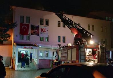 Alaçam Devlet Hastanesinde Yangın Paniği