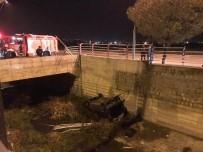 BEKIR YıLDıZ - Kayseri'de Otomobil Kanala Uçtu Açıklaması 1 Yaralı