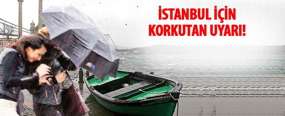 İstanbul'da fırtına uyarısı