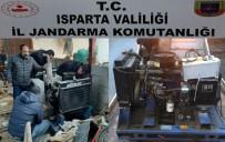 Isparta'dan Çaldıkları Jeneratörü 3 Yıl Sonra Afyonkarahisar'daki Besihanede Kullanırken Yakalandılar