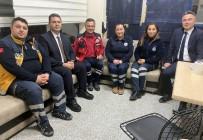 Uğur Bilge'den 112 İstasyonlarına Sürpriz Gece Ziyareti