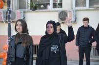 Öğrenciler, Sokak Tiyatrosu İle Kadına Şiddete 'Hayır' Dedi