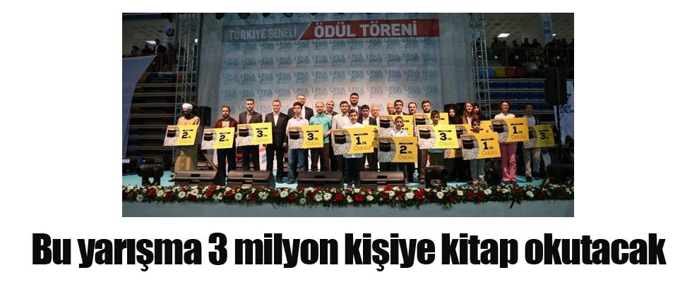 Bu yarışma 3 milyon kişiye kitap okutacak