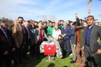 PELİN KARAHAN - (Özel) Ünlü Oyuncu Pelin Karahan Eşinin De Oynadığı Takımın Şampiyonluk Maçını İzledi
