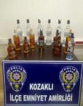 Kozaklı'da  15 Şişe Sahte İçki Ele Geçirildi