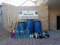 KEMERHISAR - Jandarma Kaçak İçki Ele Geçirdi