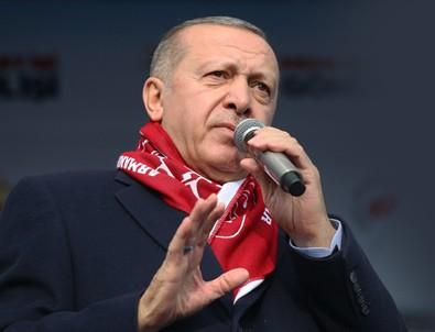 Cumhurbaşkanı Erdoğan: Vatanımıza, bayrağımıza, istiklalimize uzanan her eli kırarız