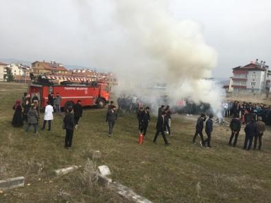 Taşköprü'de Deprem Ve Yangın Tatbikatı Yapıldı