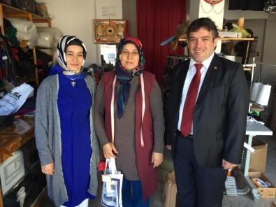 Başkan Sağır Kadın Esnafları Ziyaret Etti