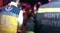 ÖMER ÖZCAN - Konya'da Hafif Ticari Araç İle Otomobil Çarpıştı Açıklaması 8 Yaralı