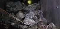 Tünel Çöktü Araç Trafiğe Kapandı