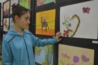 YUSUF YıLMAZ - Gülay Kanatlı Ortaokulunda Yıl Sonu Resim Sergisi Açıldı