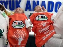 DURSUN DURMUŞ - 8 Günlük İkizler, Samsun'un En Genç TEMA Gönüllüsü Oldular