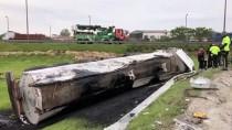 Çatalca'da Tanker Devrildi
