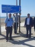 MASA SANDALYE - Samandağ Sahiline Uyarıcı Levhalar Yerleştirildi