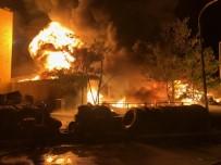 İVEDİK ORGANİZE SANAYİ BÖLGESİ - Ankara'da Lastikçiler Sitesinde Yangın