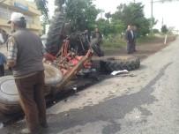 KıRCASALIH - Traktör İle Otomobil Çarpıştı Açıklaması 2 Yaralı